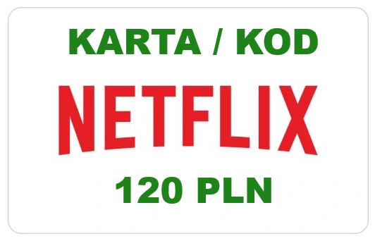 Netflix karta podarunkowa - 120 zł