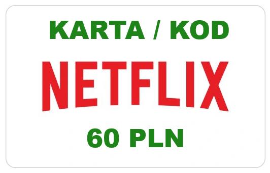 Netflix kod podarunkowy - 60 zł