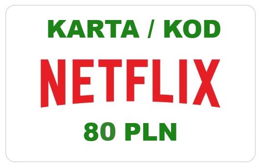 Netflix kod podarunkowy - 80 zł